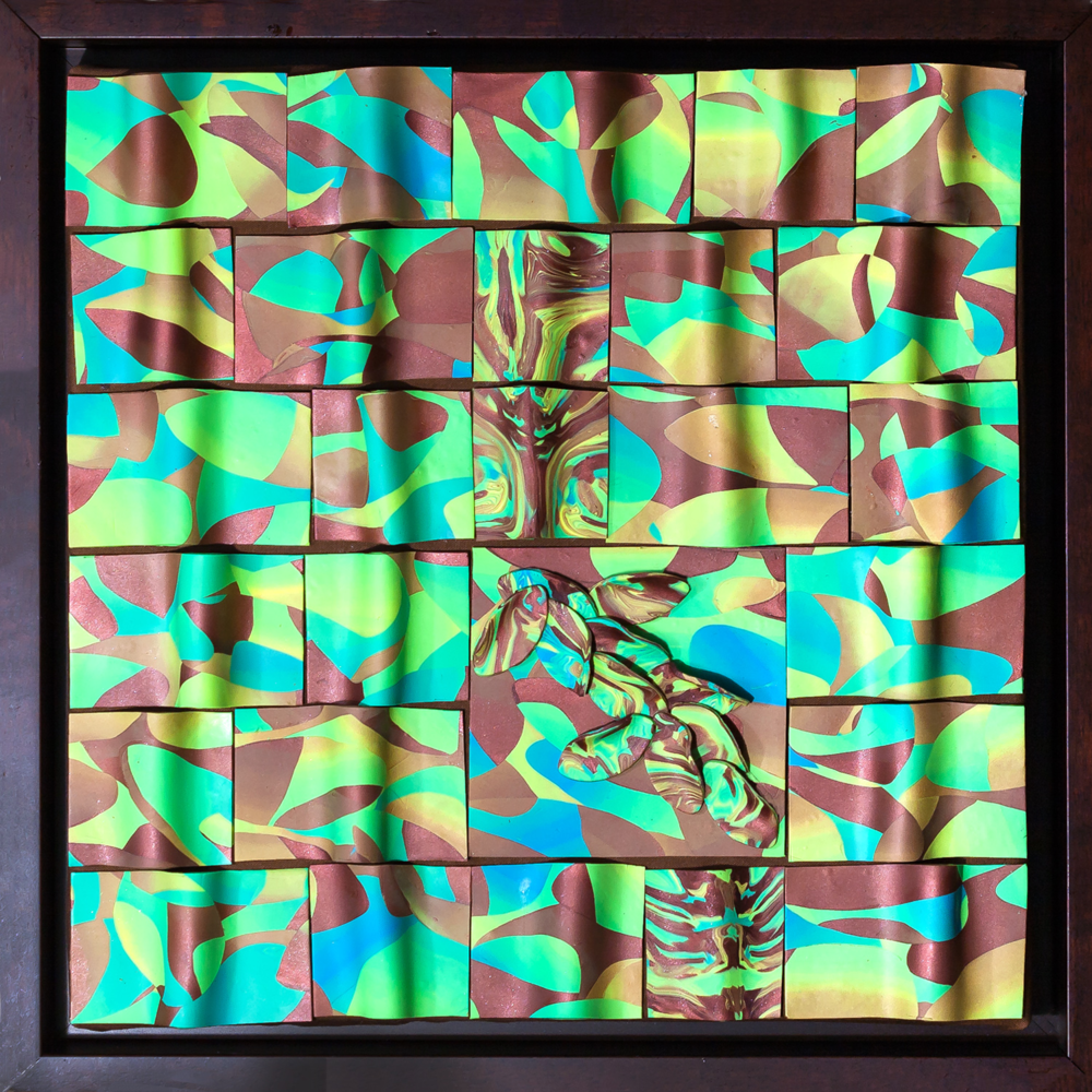 Foundry Gallery-Fran Abrams-Summer Becomes Fall-12x12-Polymer clay, not painted - 2015-$600.png