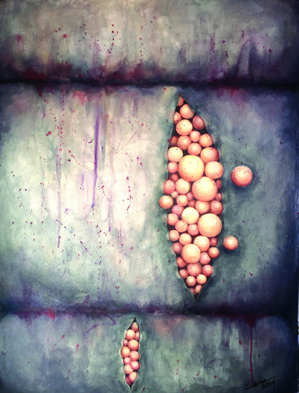 Foundry Gallery-Sarna Marcus -RENDING-Seed AtomII.3 - 29x22- watercolor 2013- $2200.jpg