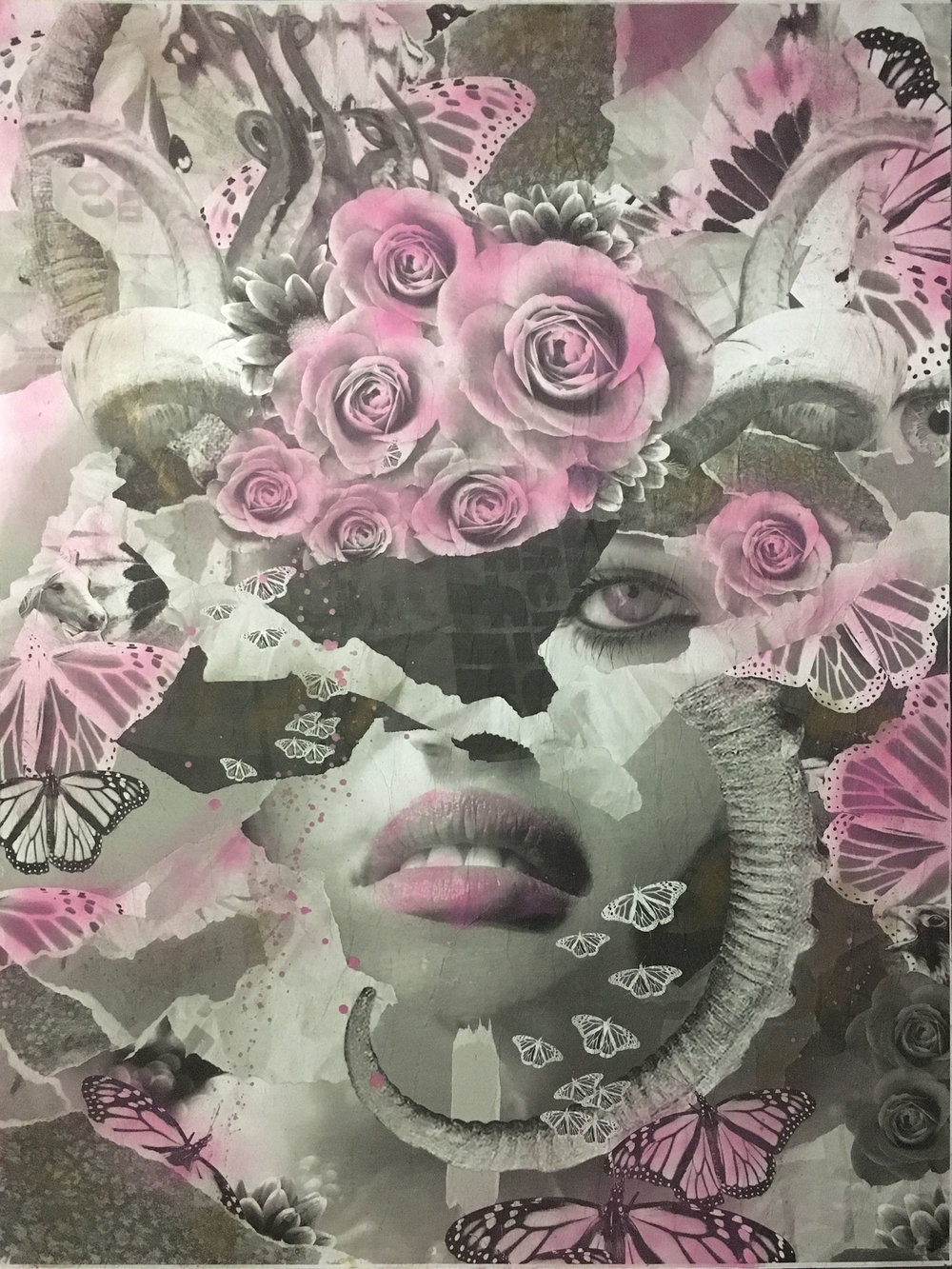 Rod Webber Untitled 2017 Collage Mixed Media 30x40 $2000.JPG