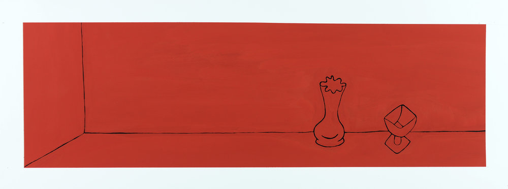 Monochrome Collective : Gary Kret : Would the Underworld be Red Series #2 : Casein on Paper : 8 x 27.5 : $2,600.jpg