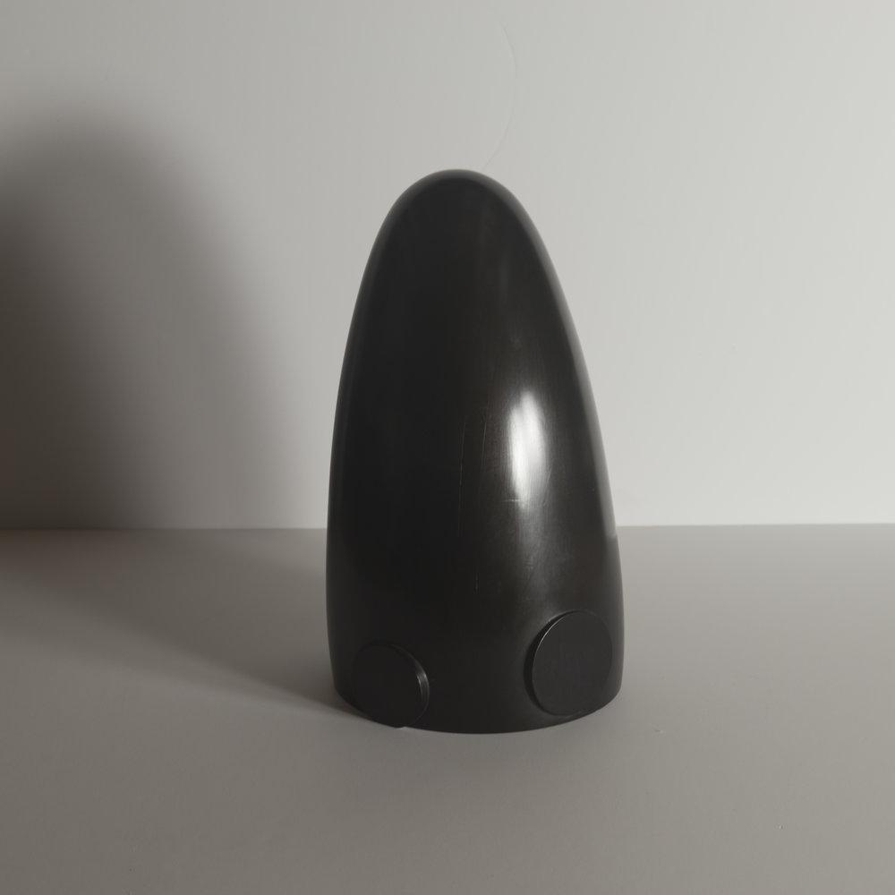 Monochrome Colletive : Gary Kret : Diver : maple, black aniline dye paste, wax finish : 15.5 x 8.5 in. : $2,750.jpg