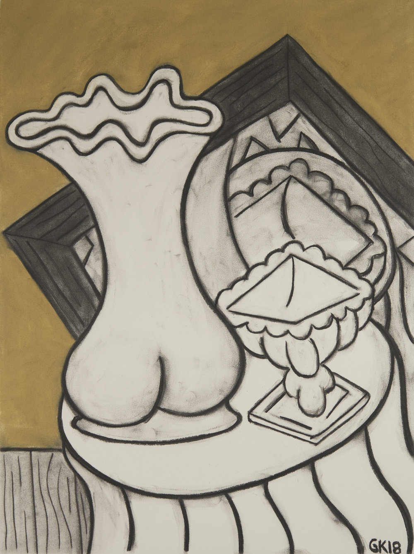 Monochrome Colletive : Gary Kret : Tokarski Series #5 : Derwent colored charcoal on Reeves BFK : 30 x 22 in. : $2,400.jpg