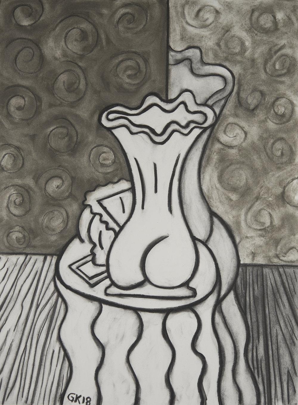 Monochrome Colletive : Gary Kret : Tokarski Series #6 : Derwent colored charcoal on Reeves BFK : 30 x 22 in. : $2,400.jpg