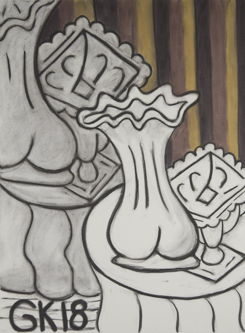 Monochrome Colletive : Gary Kret : Tokarski Series #8 : Derwent colored charcoal on Reeves BFK : 30 x 22 in. : $2,400.jpg