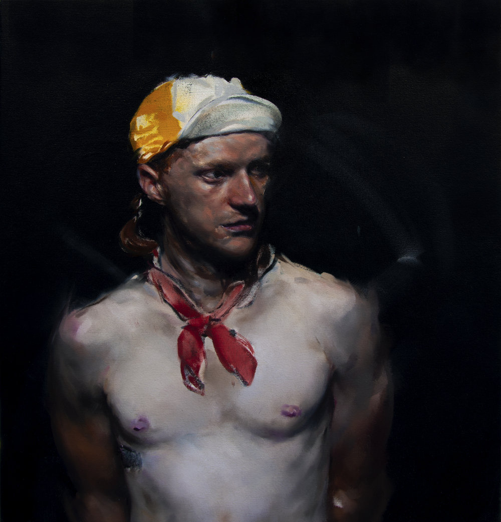 Monochrome Collective : Tyler : 23 x 25 in. :  Oil on canvas : $5,400.jpg