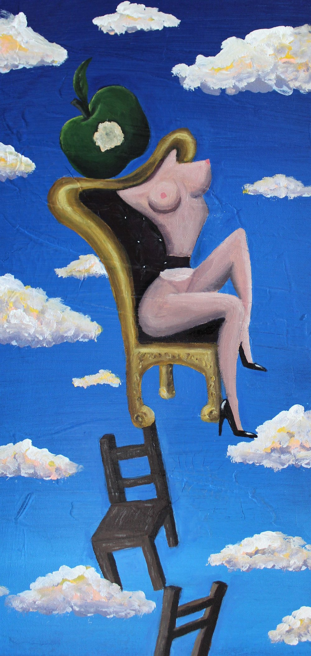 Abi Salami -Sitting Precariously II - Acrylic on canvas - 24H 12W 1.5D- 2018 - $750.jpg.jpg