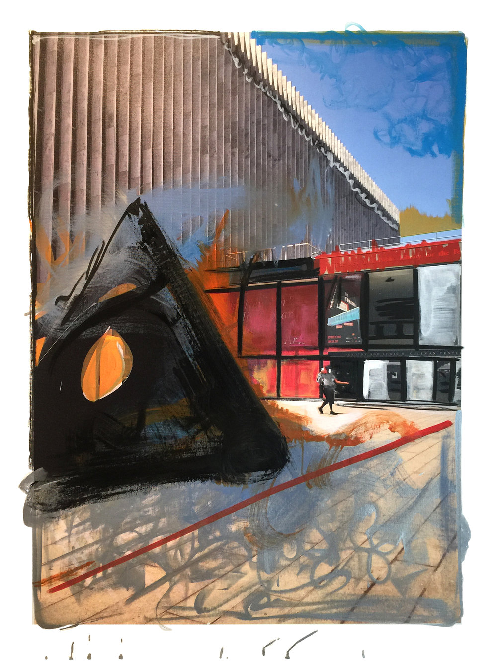 "Gail Garcia - ""LINCOLNCENTER"" - Mixed Media on Canvas - 30_x40_ - 2017 - $1950.jpg"