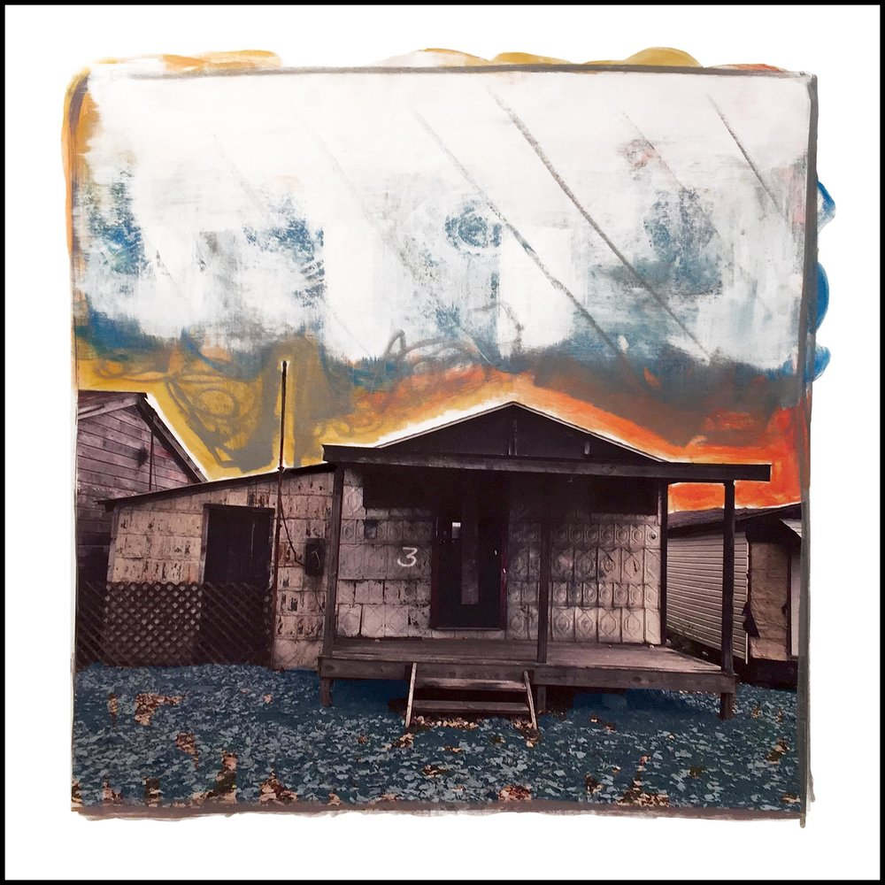 "Gail Garcia - ""SHACK#3"" - Mixed Media on Canvas - 30_x30_ - 2017 - $1950.jpg"