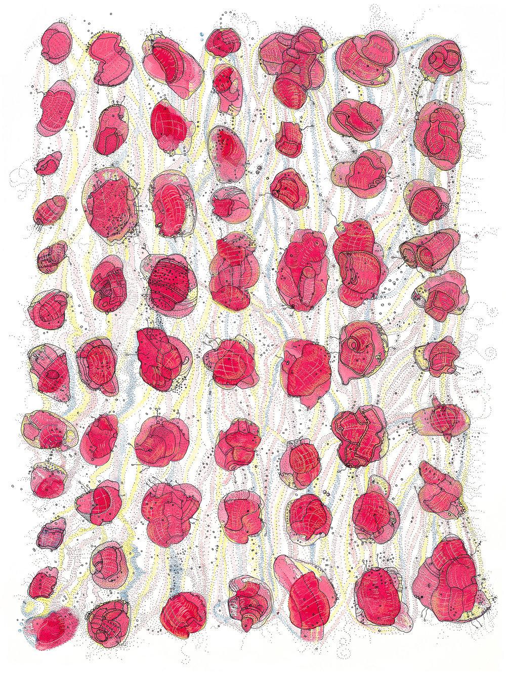RogelioMaxwell-IntercellularPathwaysAndAdaptationResistance-2010-Ink_AcrylicPaint-18x24-$5000.jpg