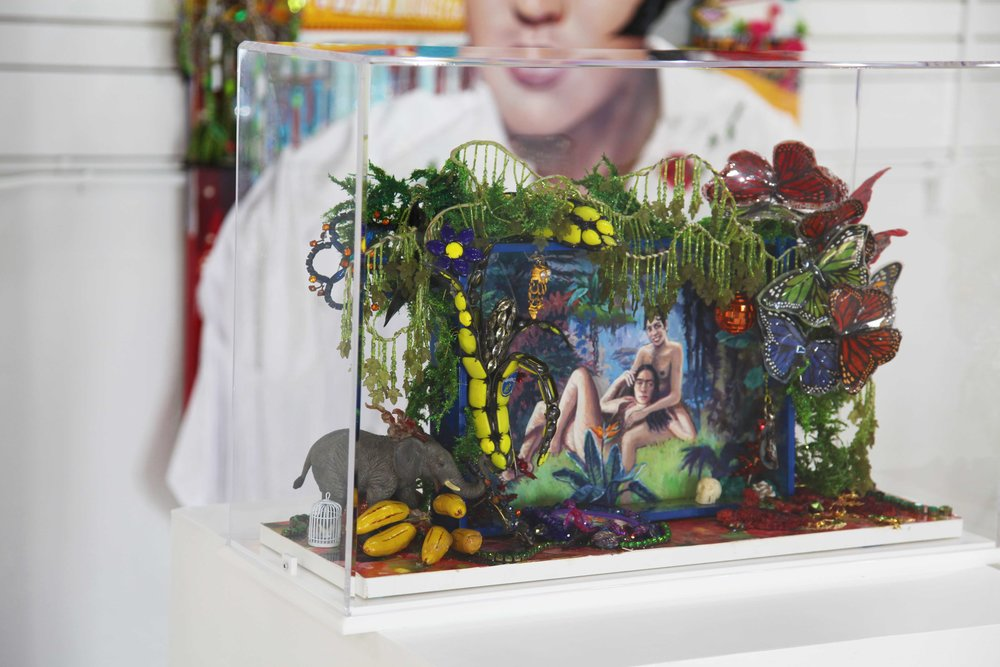 StrosbergMandel-The Dream-Mixed media with plexyglas box-26,5 x 10,5 x 30 in. + pedestal (30 x 30 in.)-$9,990.jpg