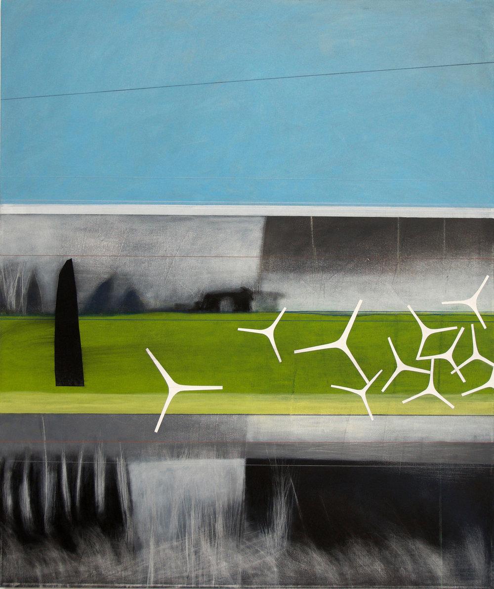 DenaRobertson Present Acrylic,Marker,Charcoal,SewingonCanvas 42x50in 2018 $3250.jpg