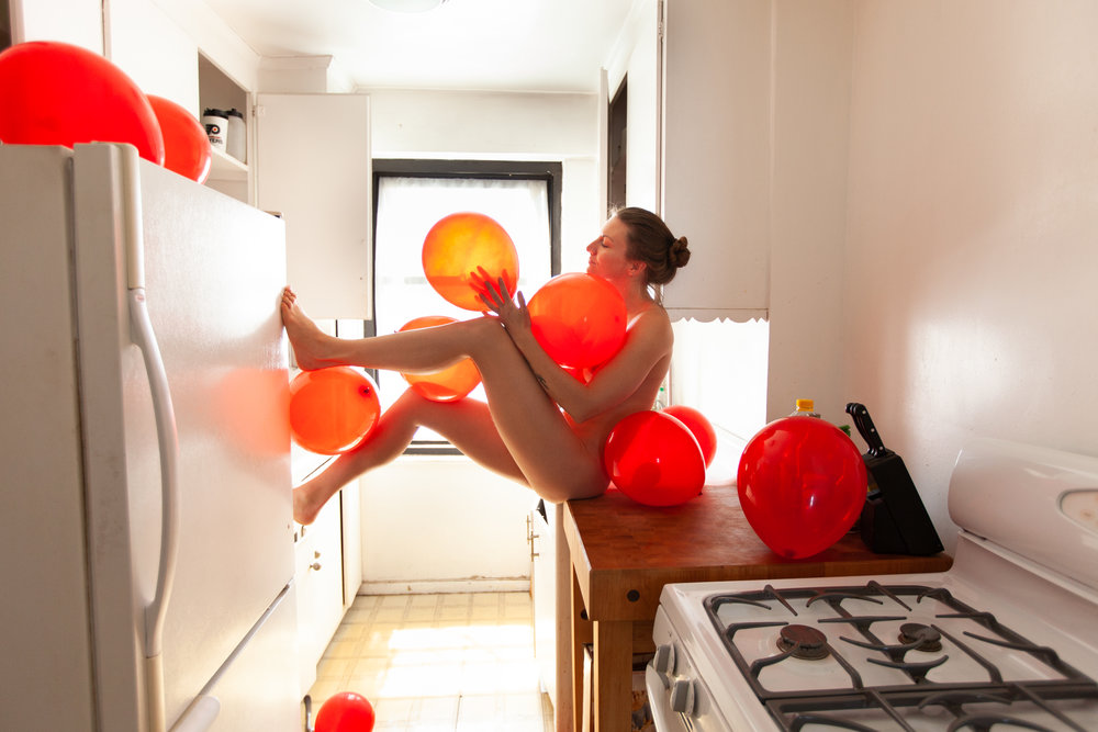 Stephanie Chisholm_Andrew Einhorn_chopping blocks, butts _ balloons_16x24_Print on Metal_2018_$325.jpg