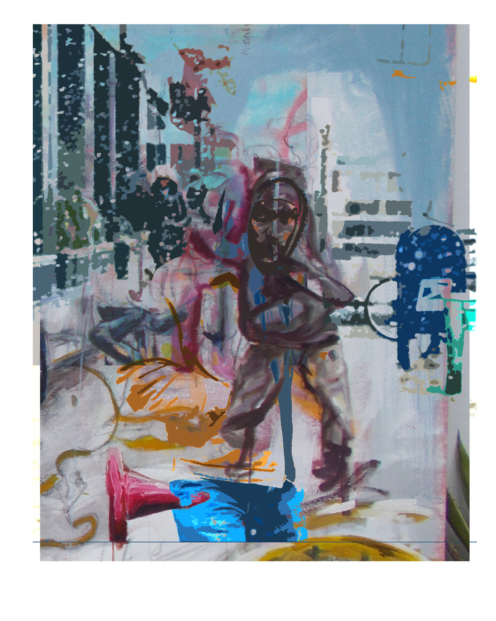 Mel Wisewood-Mad City-Acrylic,Oil,Spray paint-8x10-2018-$300.jpg