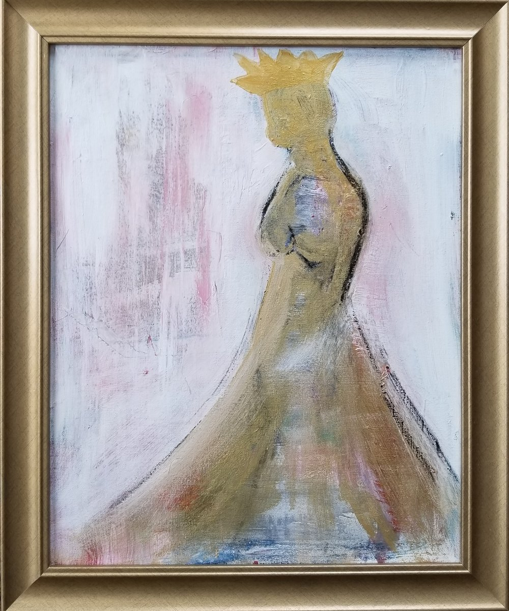 A.R.DREWART Grace AcrylicOilstickLiquidgoldcanvas 16x20 2018 Price900.jpg