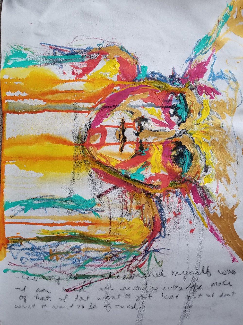 A.R.DREWART Untitled OilstickAcrylicRawCanvas 24x28 2018 Price800.jpg