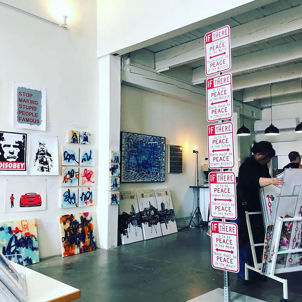 Inside Wallspace Gallery
