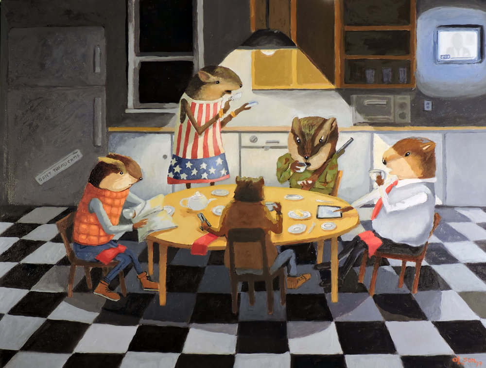 Christopher Olson-Lemming Tea Party-Oil-12x16in-2019-$1400.00.jpg