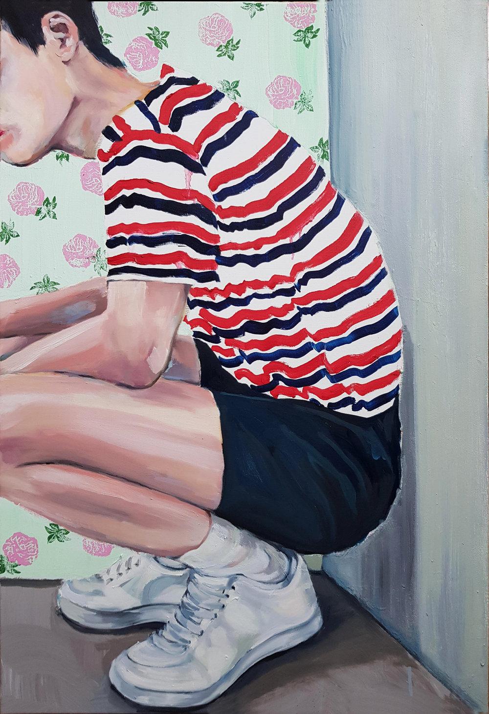 AmaiaMarzabal - Teenage Loneliness - oil -24x36- 2018 - $3,500.jpg
