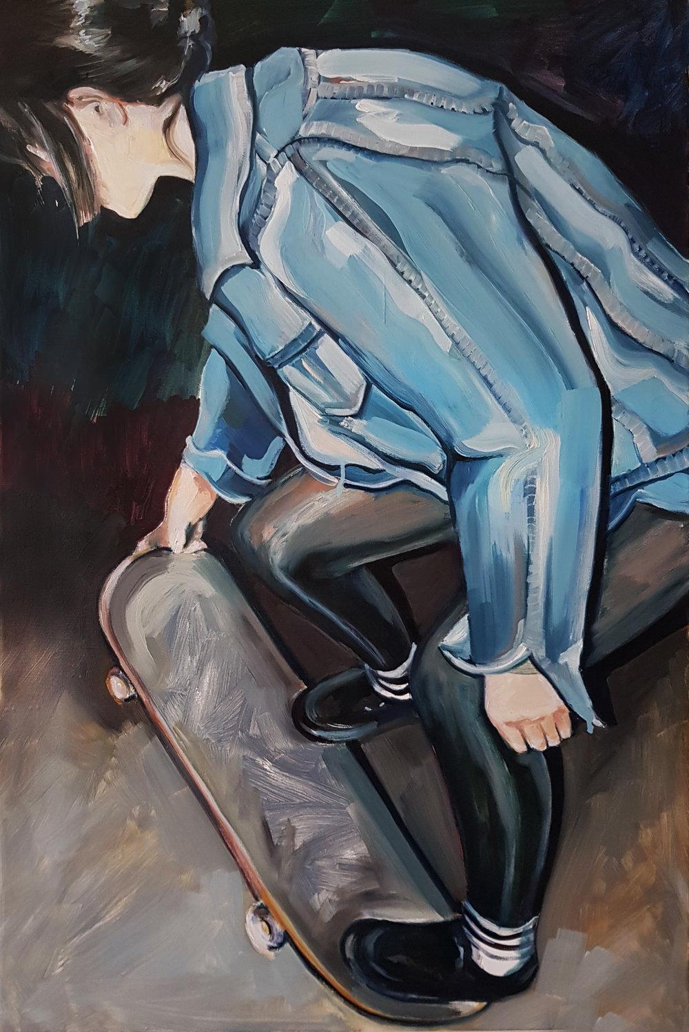 AmaiaMarzabal - WhatDoesItMeanToBeAWoman - oil -24x36- 2018 - $3,500.jpg
