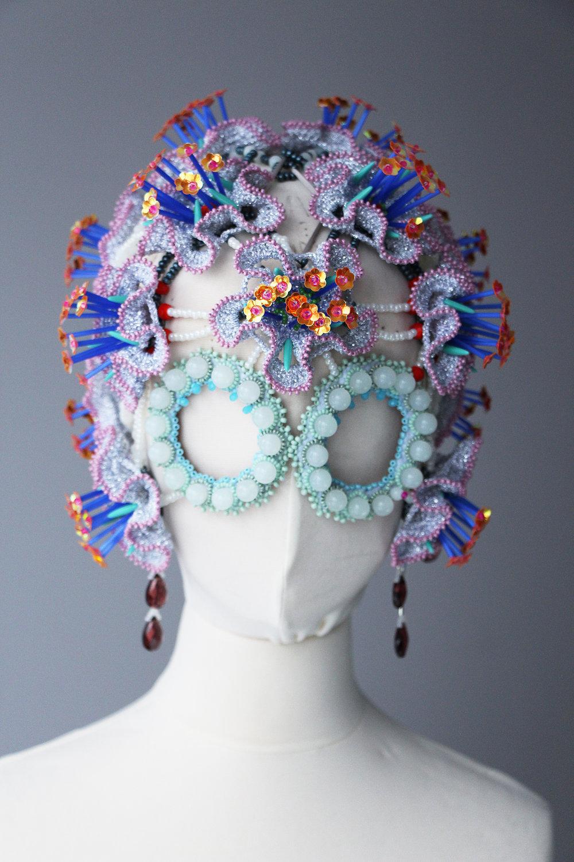Rasa Vilcinskaite,35x35cm, textile and beads,1 piece, 2019, $1350.JPG