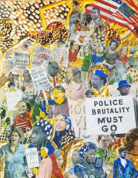 Miriam Julianna Sutton-Police Brutality Must Go-mixed media-9x12-2018-$350.jpg