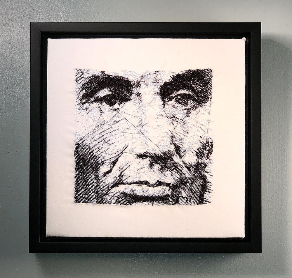 """BlairMartinCahill_Abe_embroidery- 8.25"""" X 8.25"""" X 1""""_2019_$200.jpg"""