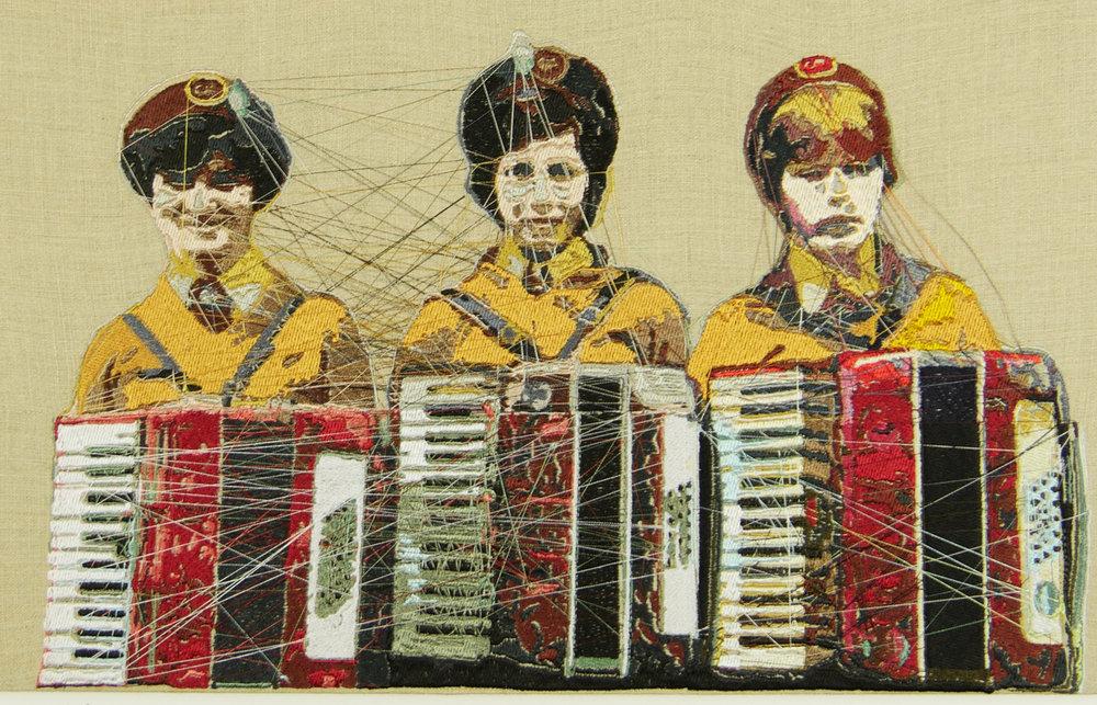 "BlairMartinCahill_TheAccordionists_embroidery_12""HX24""WX2""D_2017_$850.jpg"