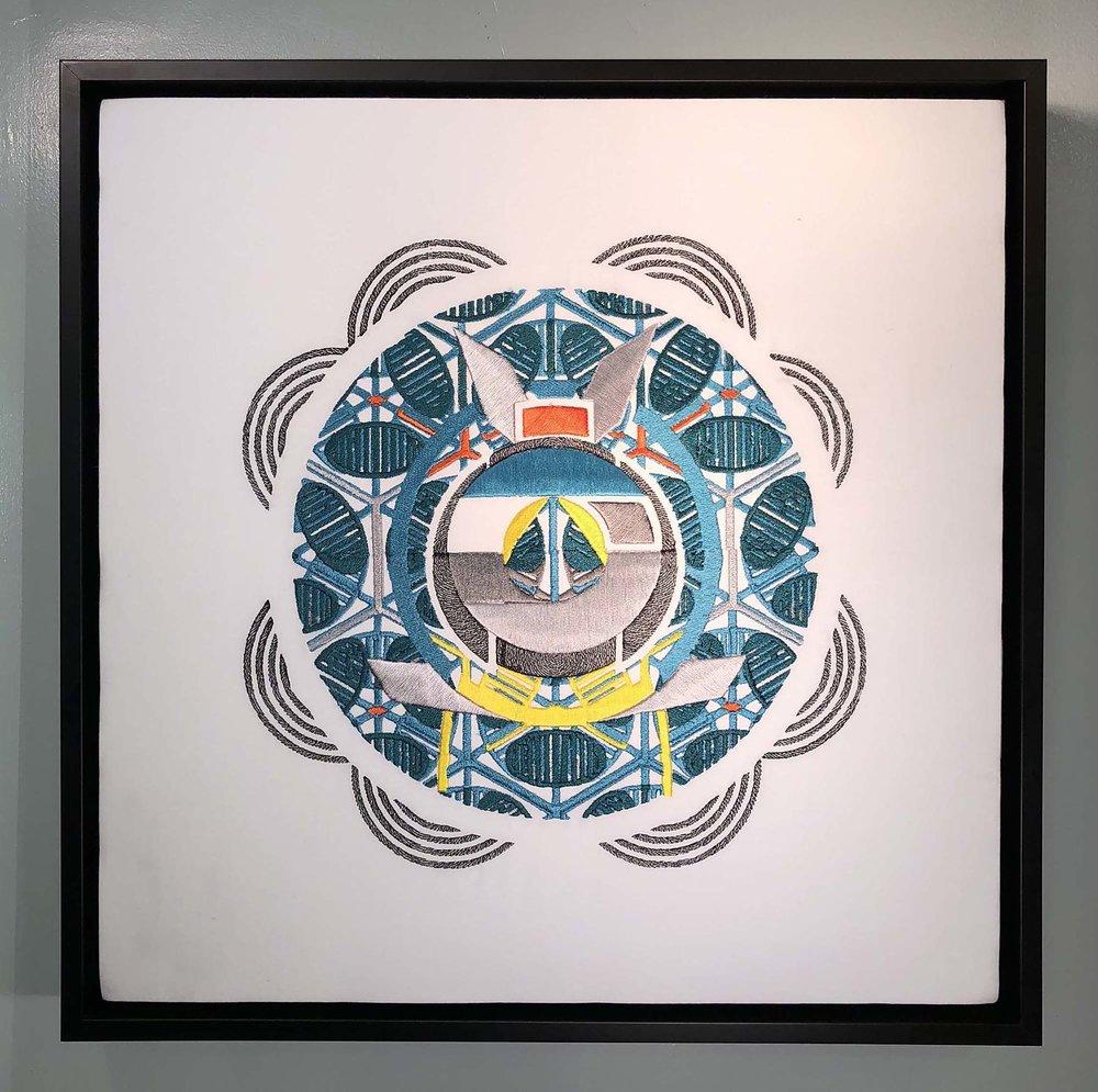 """BlairMCahill_Yoyogi_embroidery_18"""" X 18"""" X 2""""_2017_$800.jpg"""