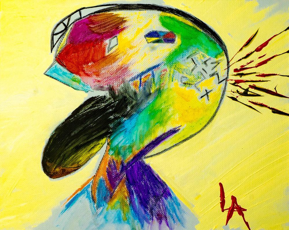 Louis Angel__SummerTime__8_x10_ Canvas_Watercolors_Acrylic_Resin_2019_$250.jpg