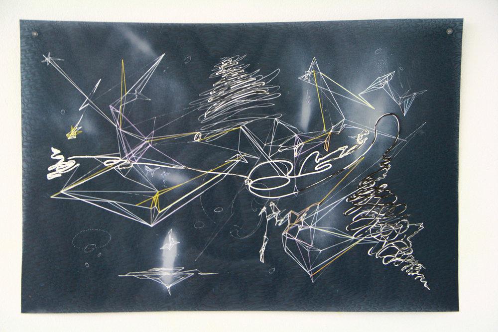 Breslaw,Space Clash,mm on plastic, 25_ x 38_,2014,$1695.jpg