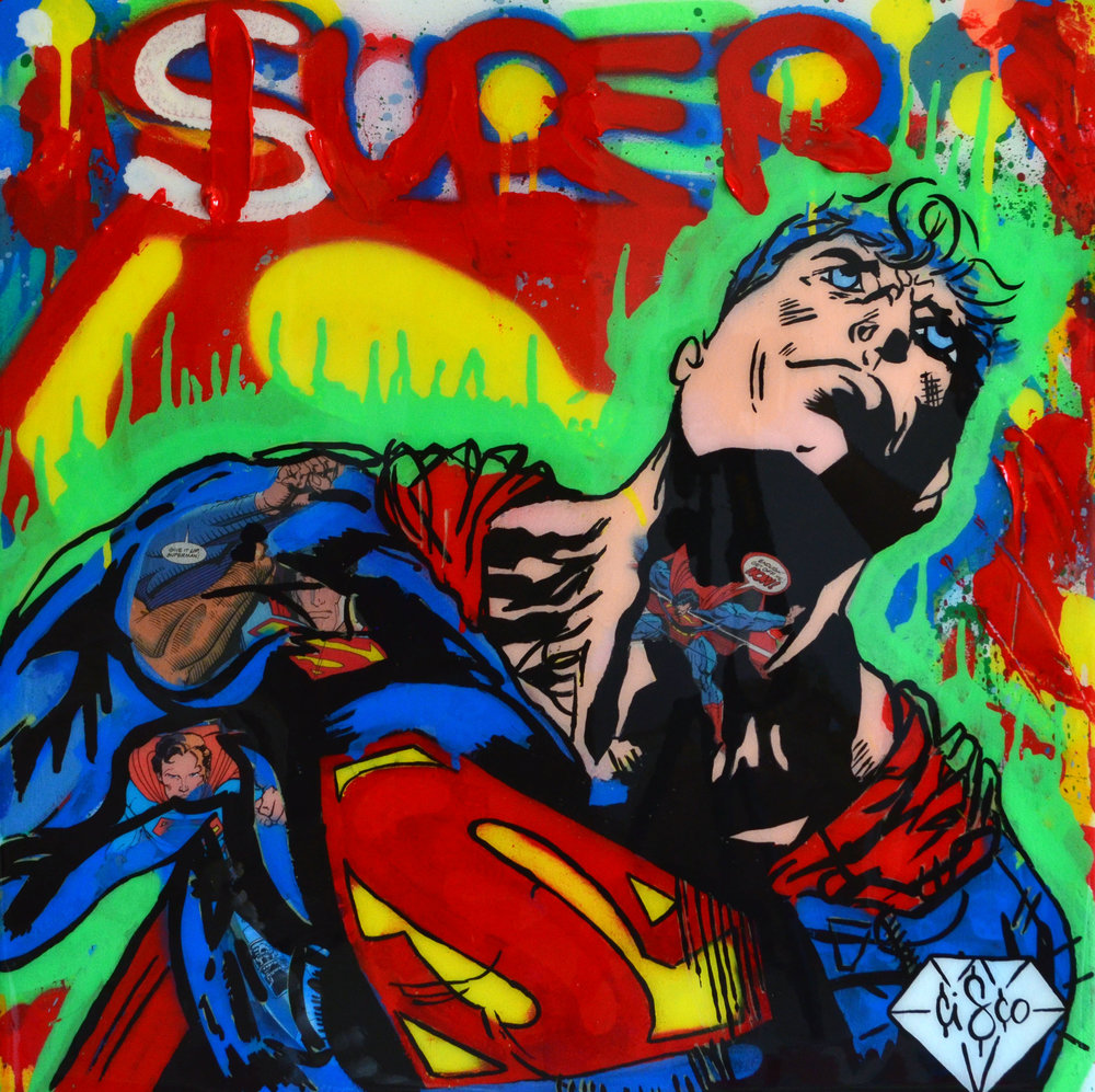 Cisco Lopez Jr Art_Cisco_Superman_22inx22in_Acrylic On Wood Panel Canvas_Edition1of1_2018_$1150.jpg