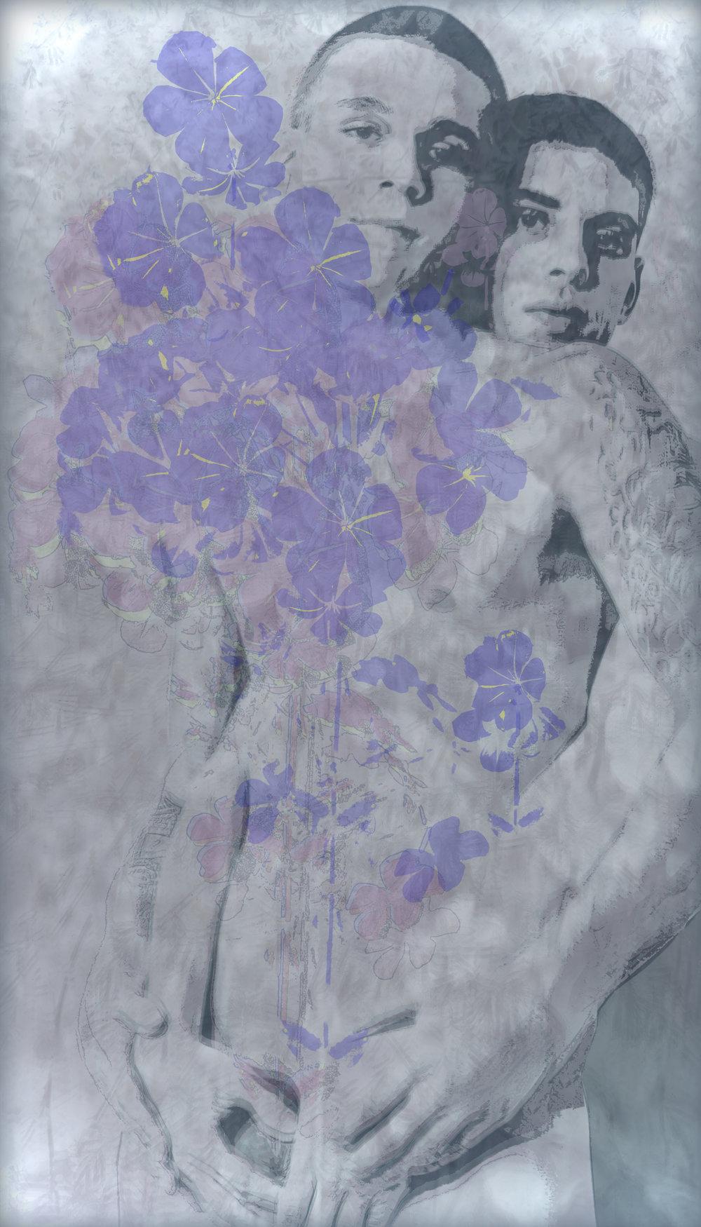 John Waiblinger-Growing Flowers-Digital Art on paper-13.75x24-1of10-2017-Framed-$975.jpg