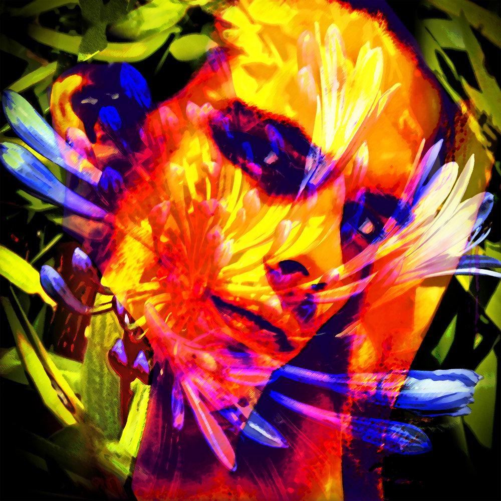 John Waiblinger-Lily of the Nile-Digital Art printed on aluminum-16Wx16H-1of10-2018-$395.jpg