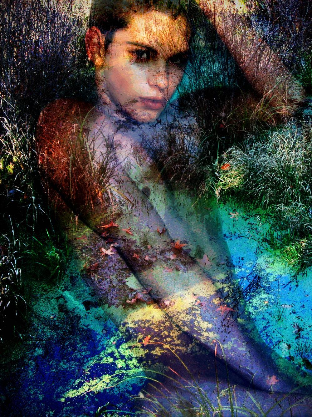John Waiblinger-River Faun-Digital Art on paper-12x16-Ed1of5-2018 -framed$675.jpg
