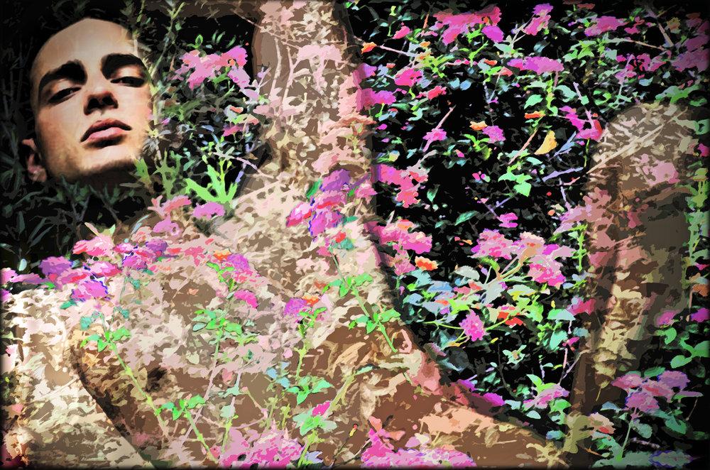 John Waiblinger-River Faun-Digital Art on paper-16x11-Ed2of10-2013 -framed$675.jpg