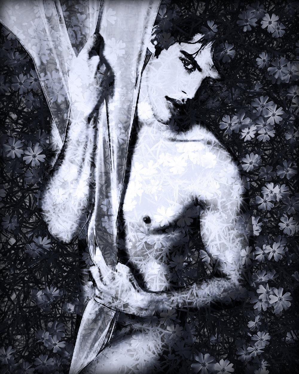 John Waiblinger-Dressed in White-Digital Art on paper-16x20-Ed2of10-2015 -framed$675.jpg