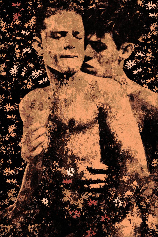 John Waiblinger-Flower Bower-Digital Art on paper-25Wx36-5of5-2018-Framed-$1,200.jpg