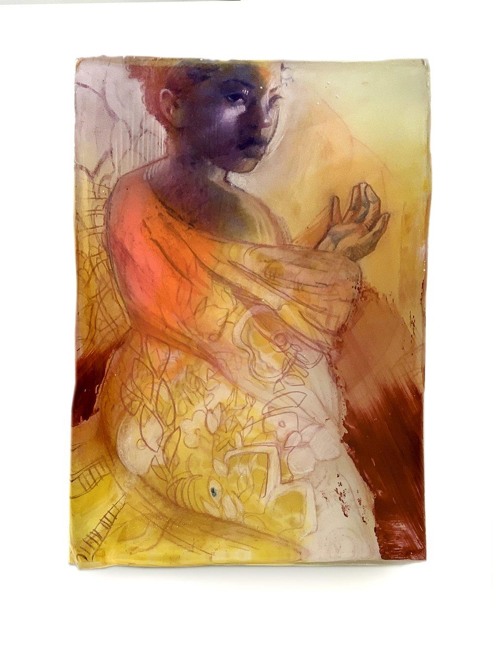Marc Scheff - Lightness - Mixed Media and ArtResin - 5x7x3 - 2019 - $775  - side view.jpg