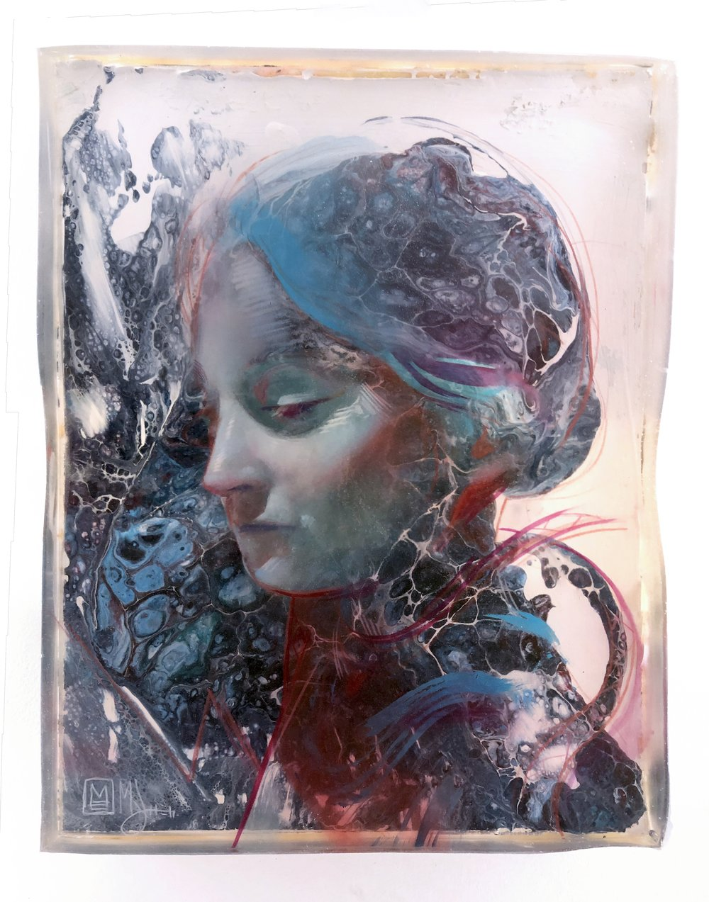 Marc Scheff - Mother Mary - Acrylic Block Print - 24x30- Edition 2 -  2019 - $750.jpg