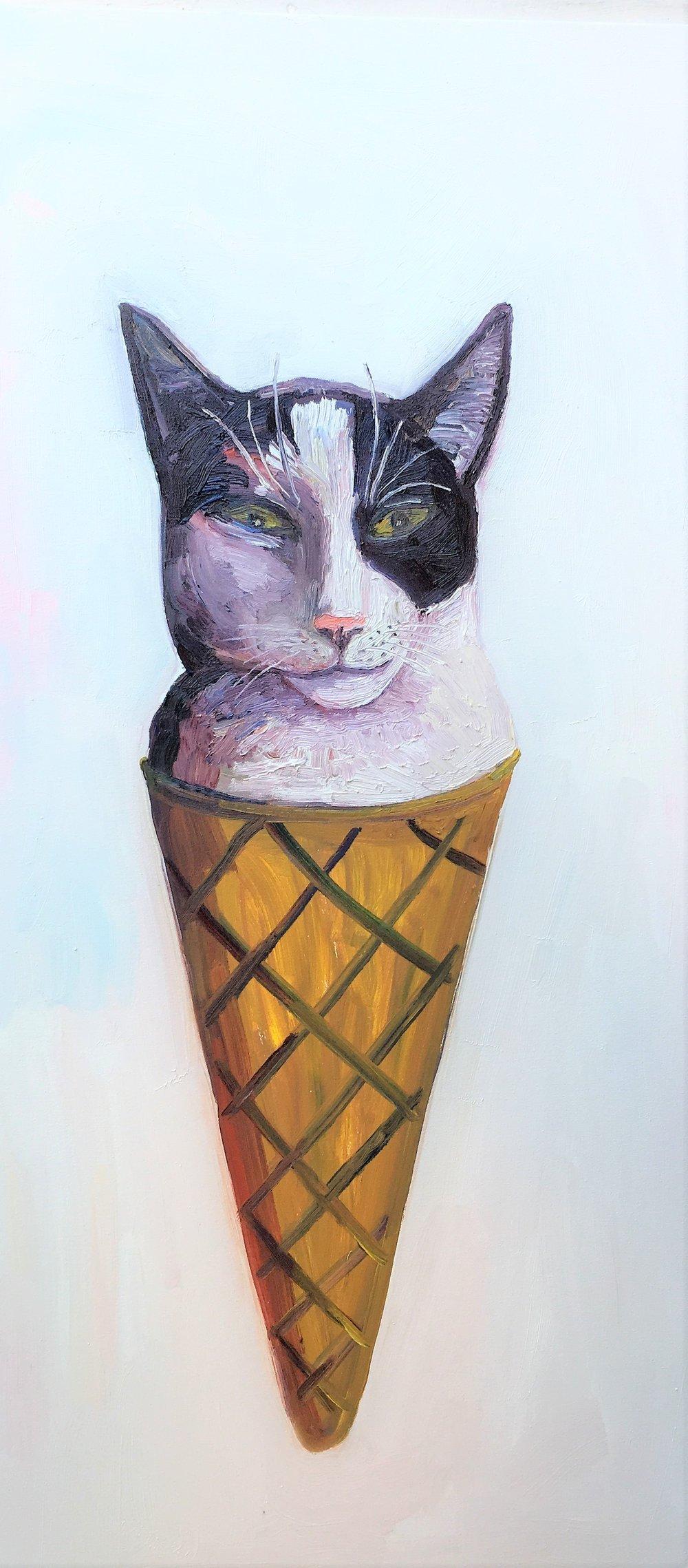 John Kilduff Cat Ice Cream 48x24in.jpg