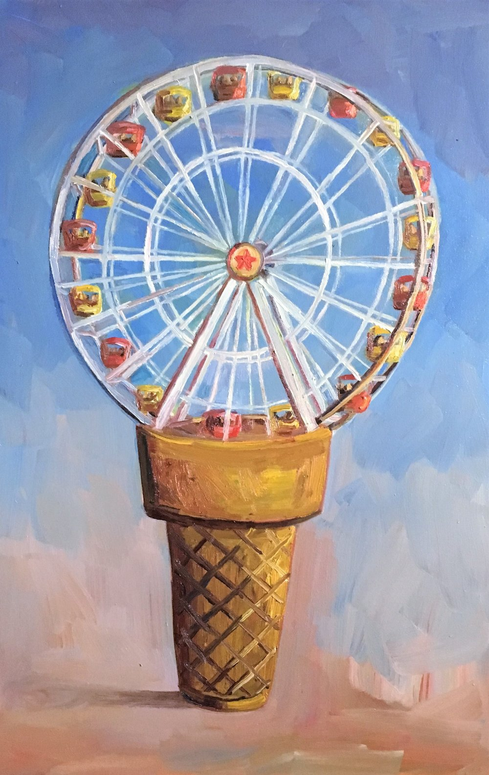 John Kilduff, Ferris Cream oil on canvas,  36 x24in.jpeg