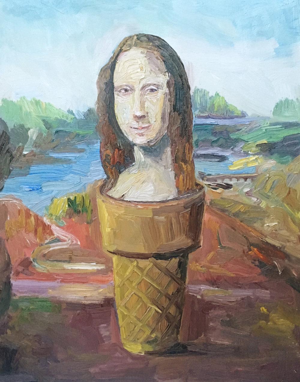 Mona Lisa Ice Cream 16x20in.jpg
