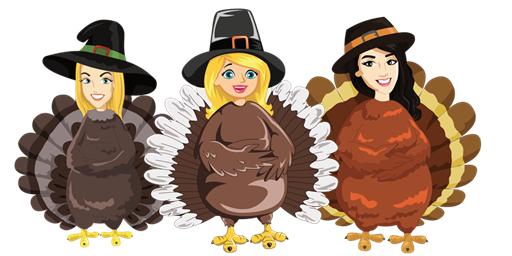 We're stuffed full of gratitude for readers like you!              Happy Thanksgiving from Kelsey, Ann, and Karen.