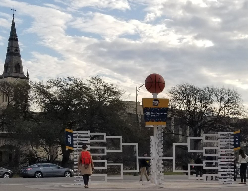 Setup for the Final Four is already happening in our backyard in San Antonio