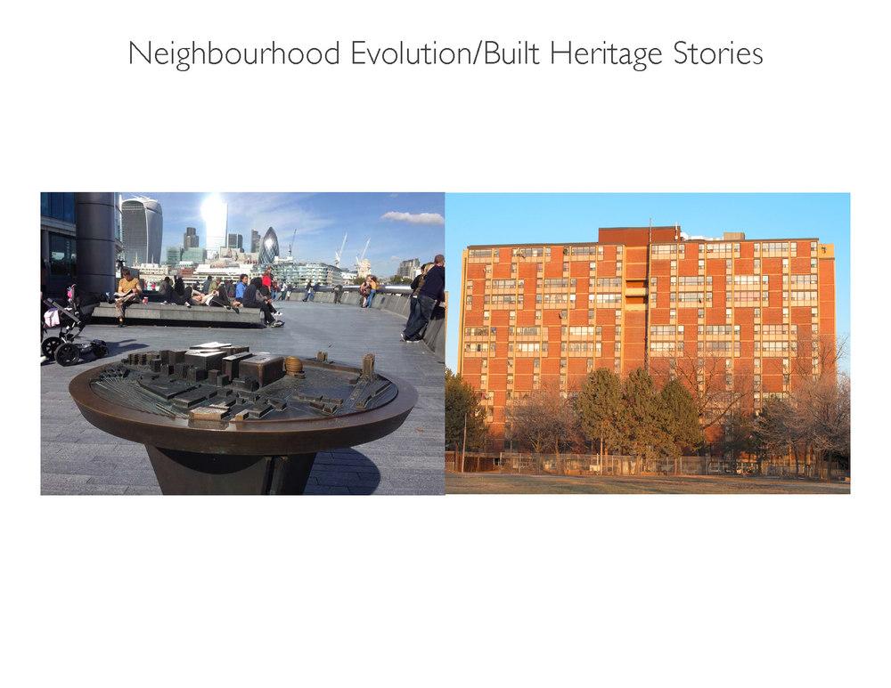 Neighbourhood Evolution/Built Heritage Stories