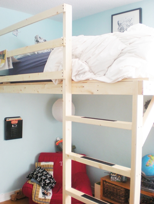 Handmade crafted loft bed