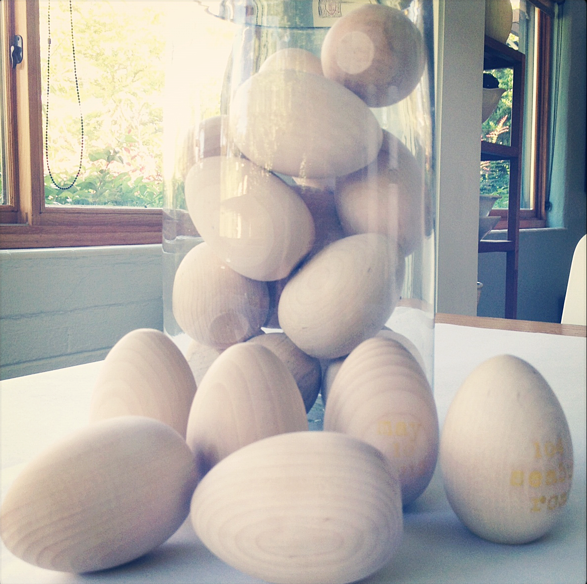 wooden keepsake eggs personalized by indobay handprinted modern textiles & home goods