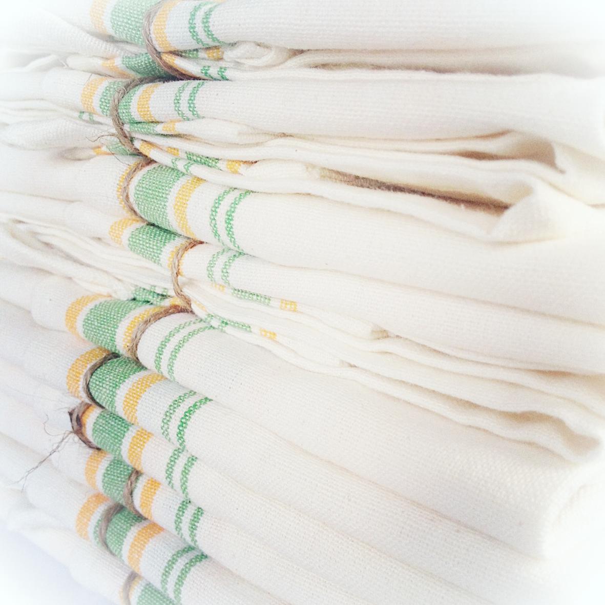 indobay handprinted text towel
