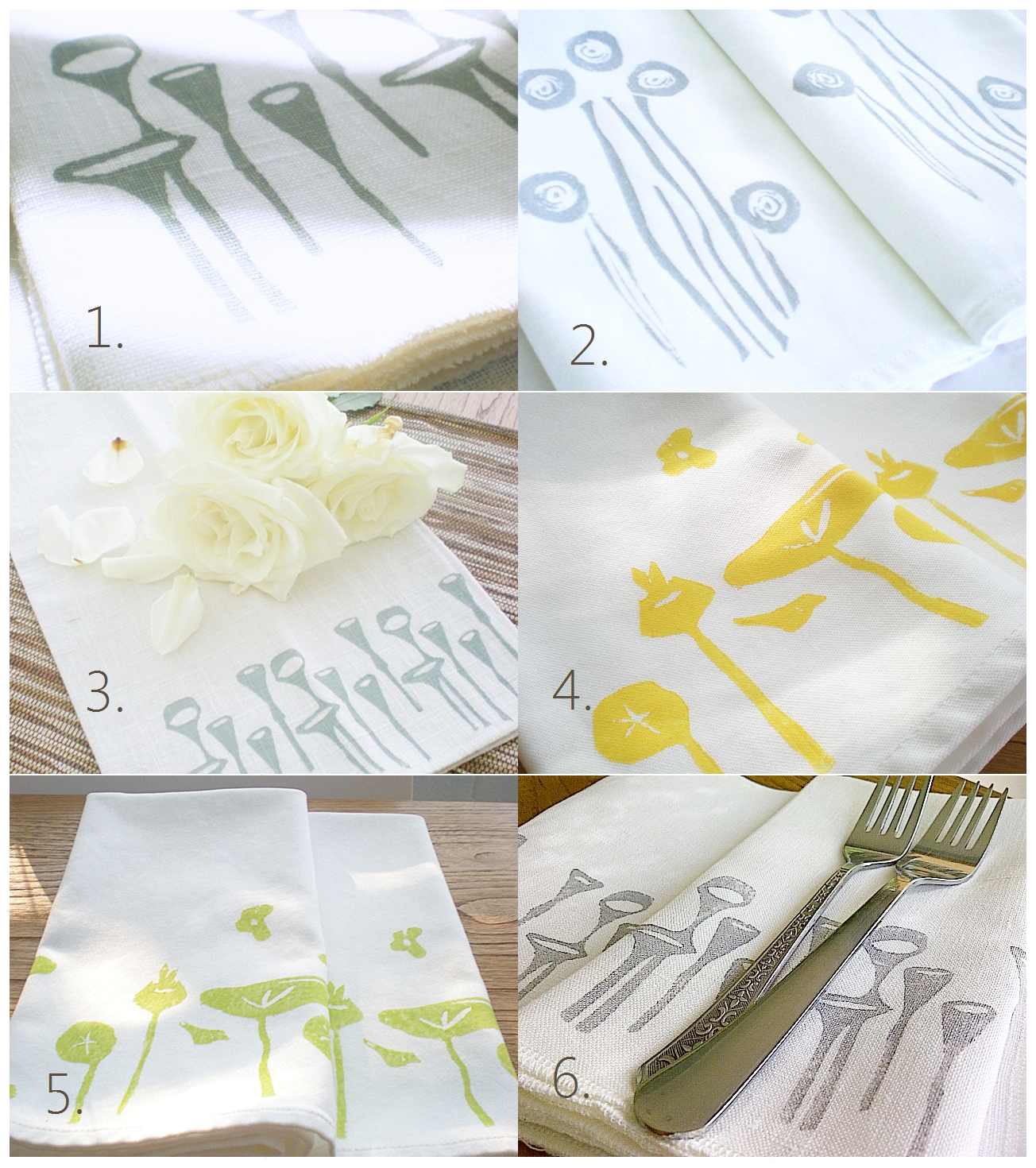 indobay handprinted cotton and linen napkins
