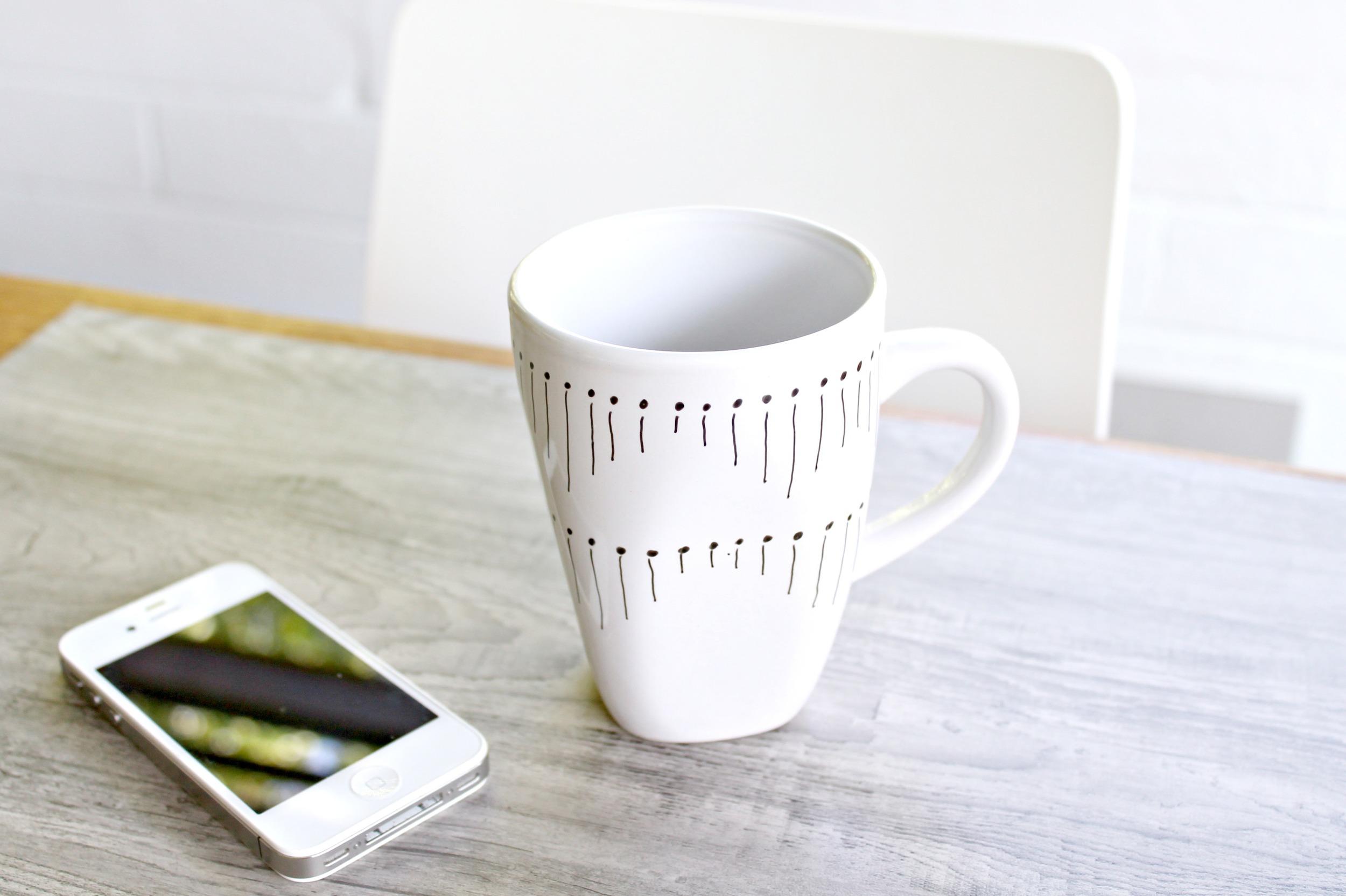 indobay lines & dots mug